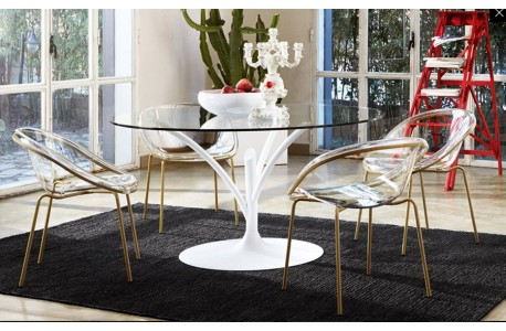 Стол Acacia - стул Bloom - Calligaris